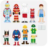 Magnetische Figuren Junge 36tlg. / 8 magnetische Outfits aus Holz mit rückseitigem Magnet / Maße: ca. 22 x 8,5 cm / Gewicht: 700g / für Kinder ab 3 Jahren geeignet