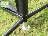 EXIT Multi-Sport Netz 3000 / Multi-Funktionsnetz / Breite: 300 cm / Höhe verstellbar: 62/109/155 cm / Farbe: schwarz / mit Bodenankern