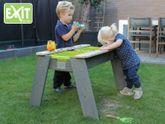 EXIT Aksent Sand- und Wassertisch L / Kinderspieltisch inkl. 2 grünen Kästen / Material: Nordisches Fichtenholz / Maße: 69 x 94 x 50 cm / Gewicht: 11 kg