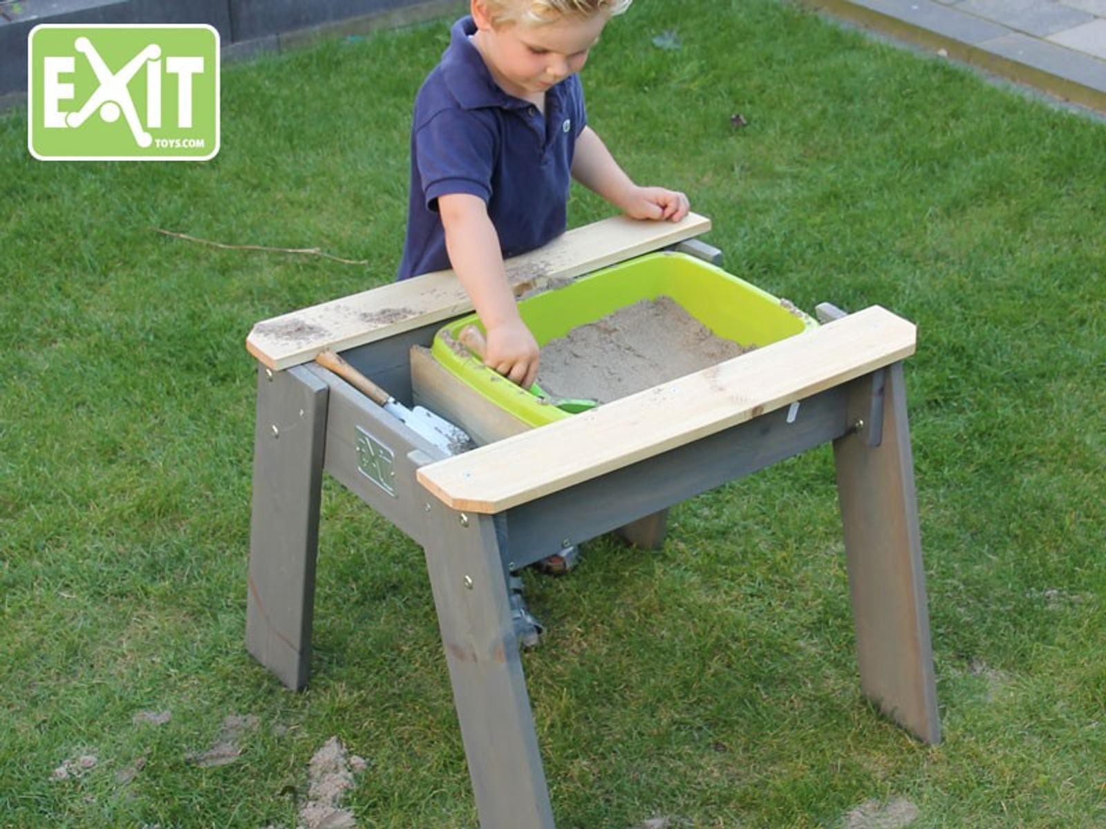 exit aksent sand und wassertisch m kinderspieltisch mit 1 kunststoffbecken material. Black Bedroom Furniture Sets. Home Design Ideas