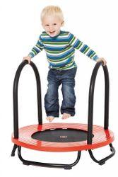 Baby Trampolin von GONGE / Durchmesser: 70 cm / Höhe: 14cm/65 cm / max. Belastbarkeit: 20 kg / für Kinder ab 1 1/2 bis 4 Jahren geeignet