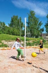 Eduplay Balltrainer / Stahlmast (Ø 5cm / Länge: 230cm) + an PP-Schnur befistigter Gummiball (Ø 20cm) / für Kinder ab 3 Jahren geeignet