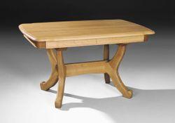 Esstisch / Esszimmertisch / Tisch Stolberg / Eiche rustikal gelaugt, P43 oder Eiche-Natur - 140, 160 oder 180 cm - Komplett in Eiche massiv