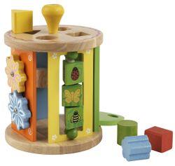 Activity Roller / Motorikspielzeug/Sortierbox / Material: Holz / Durchmesser 16 cm - Höhe: 22 cm / für Kinder ab 12 Monaten