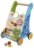 Activity Walker / Lauflernwagen mit Motorikspielen / Material: Holz / Maße: 33 cm breit - 50 cm hoch / Gewicht: ca. 3,9 kg / für Kinder ab 1 Jahr
