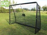EXIT SET Finta Goal 41.07.10.00 + 45.80.05.00 / Finta Fußballtor inkl. Torwand + Ball / Maße - Tor: 300cm x 200cm x 90cm + Ball Größe 5/ Gewicht: 31,5 kg