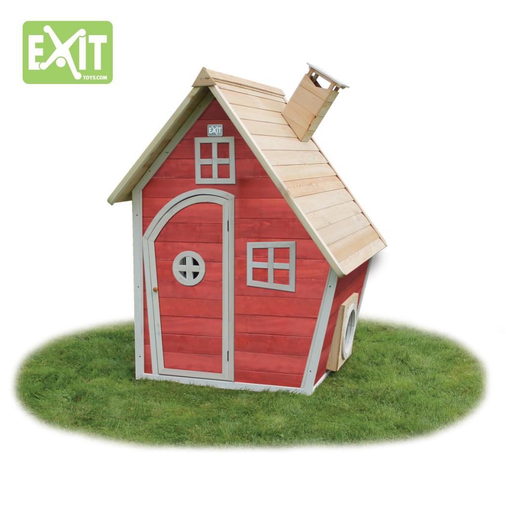 Hexenhäuschen Gartenhaus exit fantasia 100 rot spielhaus holzhaus gartenhaus kinderspielhaus
