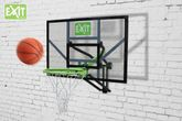 EXIT Galaxy Wall-Mount System 46.01.10.00 / mit verstärktem Basketballkorb (Wandmontage) / Maße: 116 x 77 cm / Farbe: schwarz-grün / Gewicht: 18,4 kg