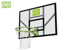 EXIT Galaxy Board + Dunkring + Netz 46.40.30.00 / Basketballkorb mit starkem + flexiblen Ring mit Netz und Basketballrückwand / Material: Polycarbonat (Plexiglas) + Metall / 116 x 77 cm / 13,1 kg