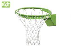 EXIT Galaxy Dunkring + Netz 46.50.30.00 / Basketballkorb mit verstärktem + flexiblen Ring mit Netz / Material: Metall / grün / Gewicht: 4,6 kg