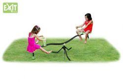 EXIT Spinner Wippe 48.01.10.00 / Karusselwippe mit Verankerung / Maße: 193 x 60 x 72,6 cm / Farbe: schwarz-grün / Gewicht: 10 kg / für Kinder ab 3 Jahren geeignet