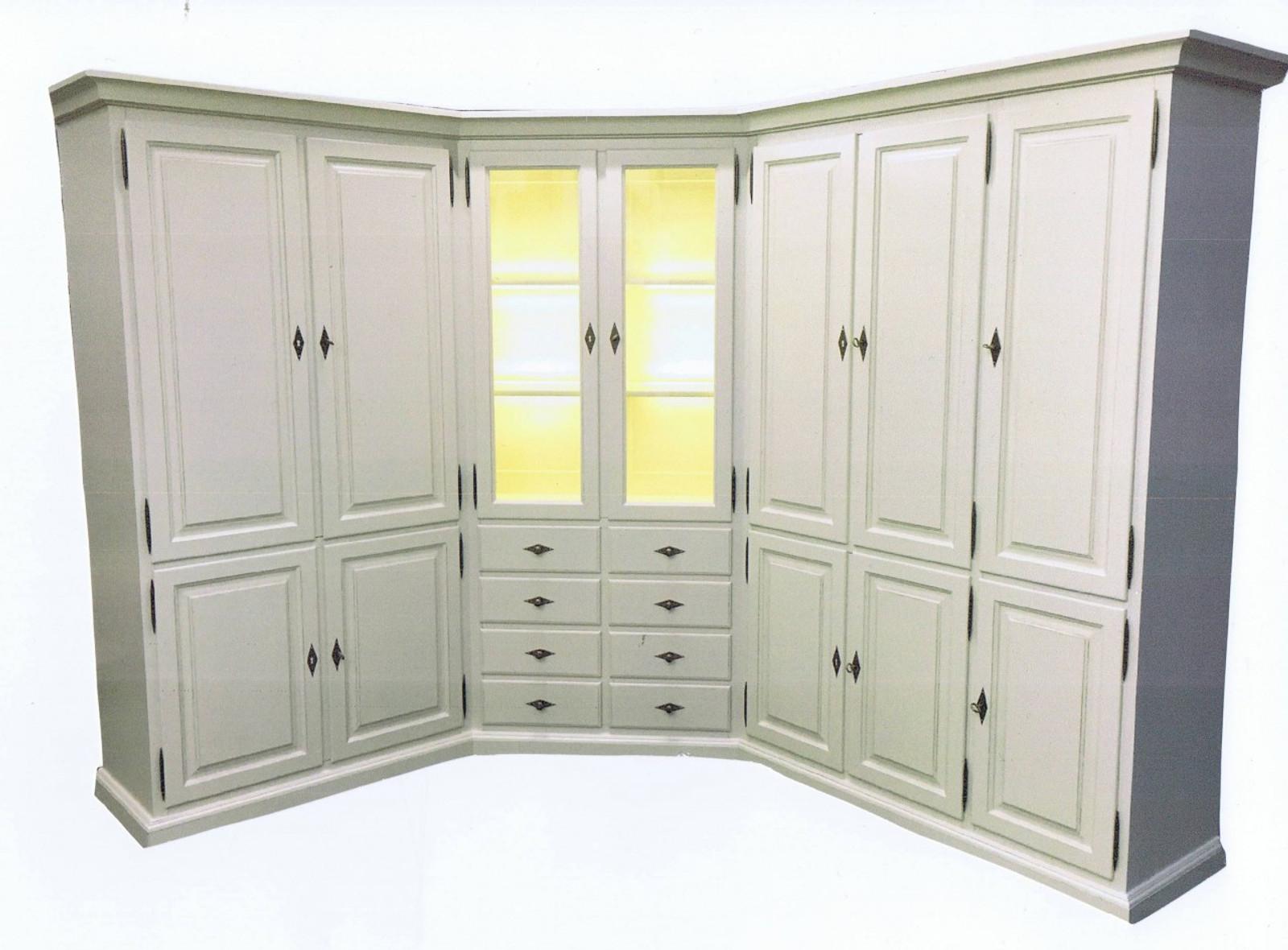 Eckschrank / Wohnzimmer-Schrank in Maßanfertigung in Eiche ...