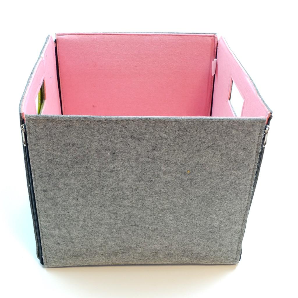 faltbare box aus filz motiv wolke mit 2 griffl cher. Black Bedroom Furniture Sets. Home Design Ideas