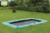 EXIT Supreme Ground Level Rectangular grün 244x427 / 10.50.14.01 / rechteckiges Bodentrampolin / Maße: 244x427 cm / Gewicht: 111 kg / max. Belastbarkeit: 120 kg