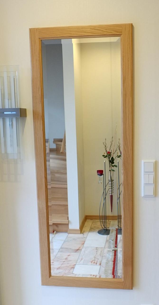 Spiegel holzspiegel spiegelrahmen flurspiegel in eiche buche oder kirschbaum massiv - Spiegel holzrahmen eiche ...