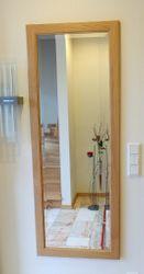 Spiegel / Holzspiegel / Spiegelrahmen / Flurspiegel in  Eiche, Buche oder Kirschbaum massiv, Modell: Spiegelrahmen  Landhaus