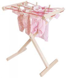 Aufklappbarer Wäscheständer für Kinder aus Holz / Made in Germany / Gewicht: 1,35 kg / für Kinder ab 3 Jahren geeignet