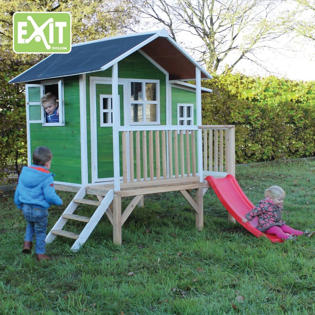 exit loft 350 gr n spielh uschen auf stelzen mit veranda. Black Bedroom Furniture Sets. Home Design Ideas