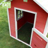 EXIT Beach 100 Rot / Beach Spielhäuschen / Material: Zedernholz / Maße: 128x121x133 cm / Gewicht: 35 kg / für Kinder ab 3 Jahren