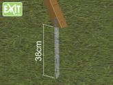 EXIT Anker Set für Spielgeräte / Erdankerset (4 Metallanker) / Sicherungsset für Spielhäuser, Schaukeln oder Spieltürme / Sturmsicherung