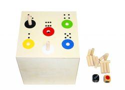 AB in die BOX - BIG / Gesellschaftsspiel mit Lerneffekt / Material: Holz / Maße: 20 x 20 x 20 cm / mit Anleitung / für Kinder von 3 - 6 Jahren