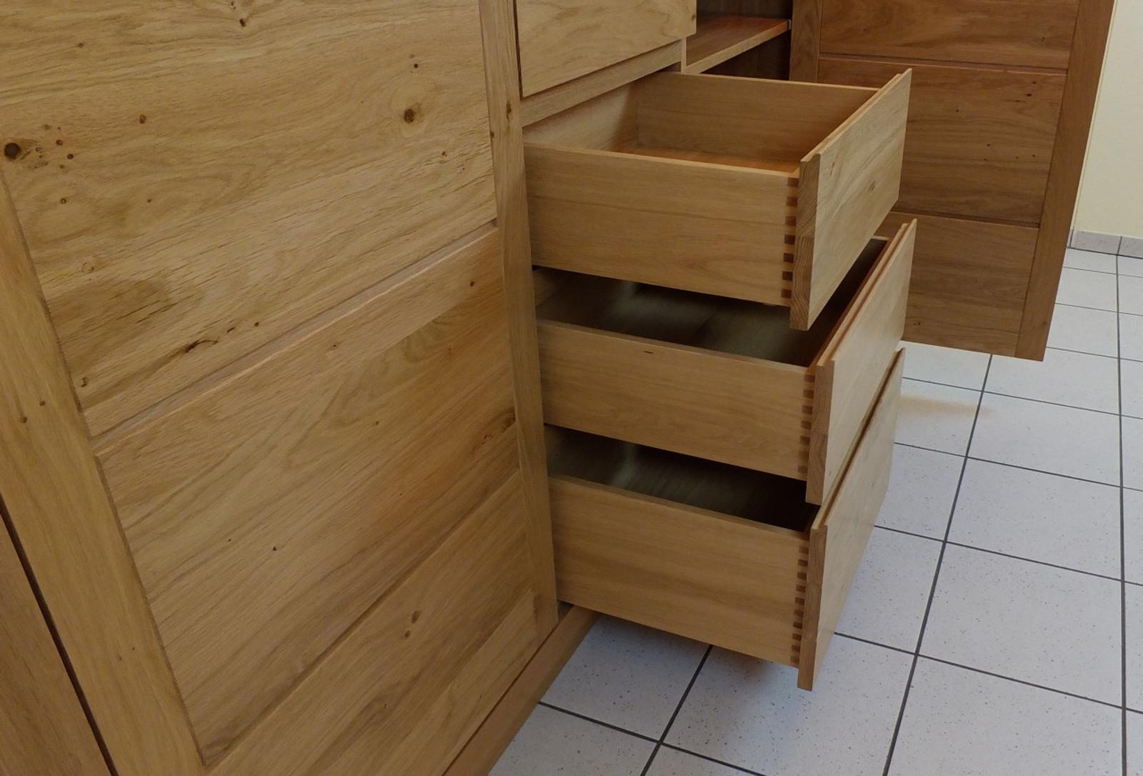 haltern highboard hochanrichte anrichte sideboard modern grifflos eiche massiv. Black Bedroom Furniture Sets. Home Design Ideas