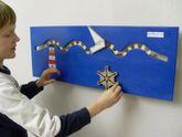 Wandspiel Schifffahrt / Drehspiel / Material: Holz / Maße: 74 x 28 cm / Made in Germany / 3+