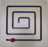 Wandspiel Spirale / Schiebespiel / Material: Holz / Maße: 48 x 48 cm / Made in Germany / 3+