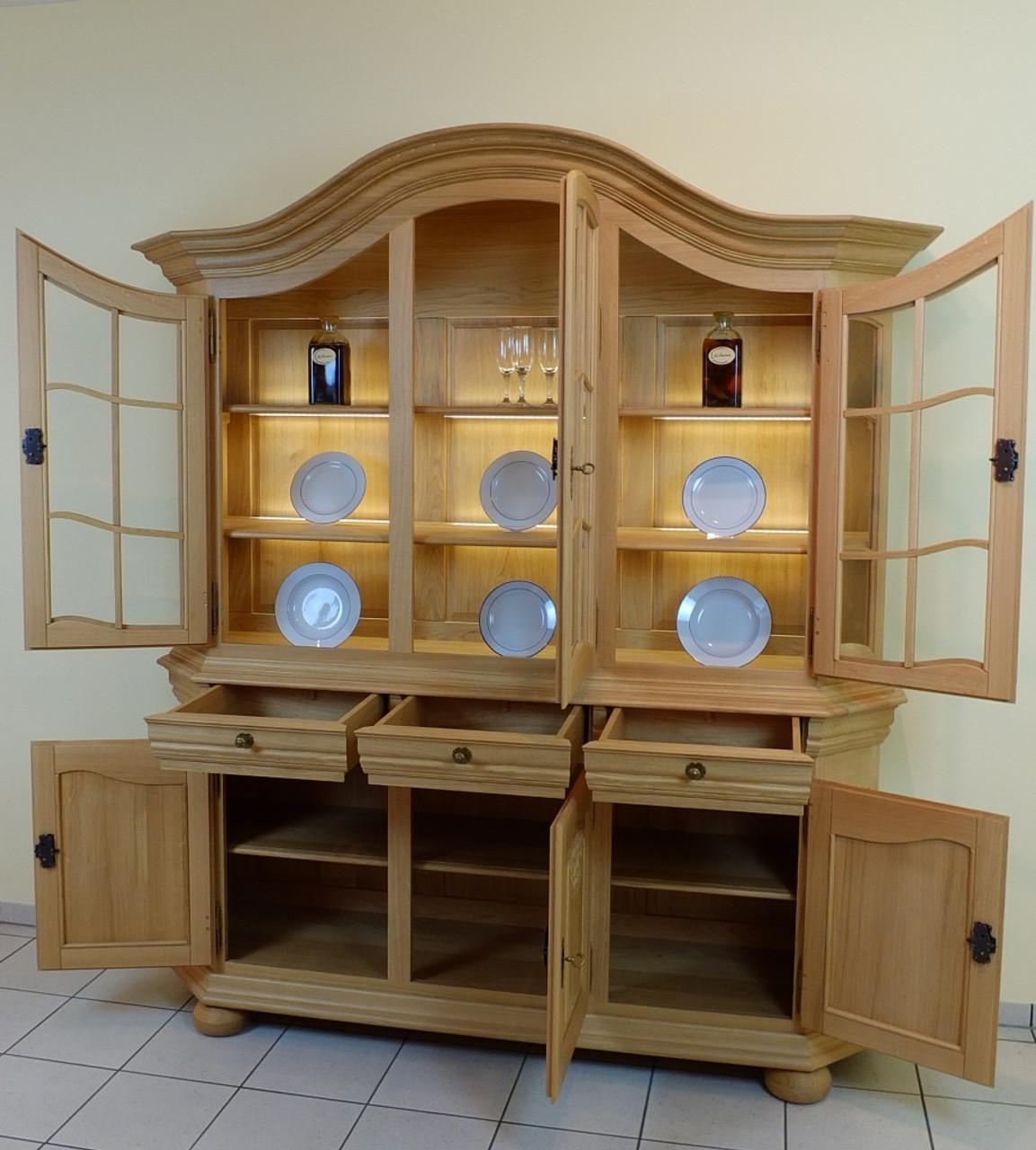 soltau vitrine bogenvitrine glasvitrine rustikal gelaugt eiche voll massiv modell. Black Bedroom Furniture Sets. Home Design Ideas