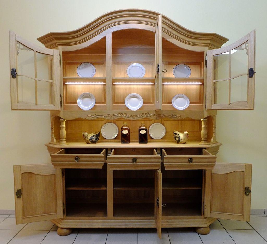 vitrine bogenvitrine glasvitrine rustikal hell eiche voll massiv modell soltau 3 t rig. Black Bedroom Furniture Sets. Home Design Ideas