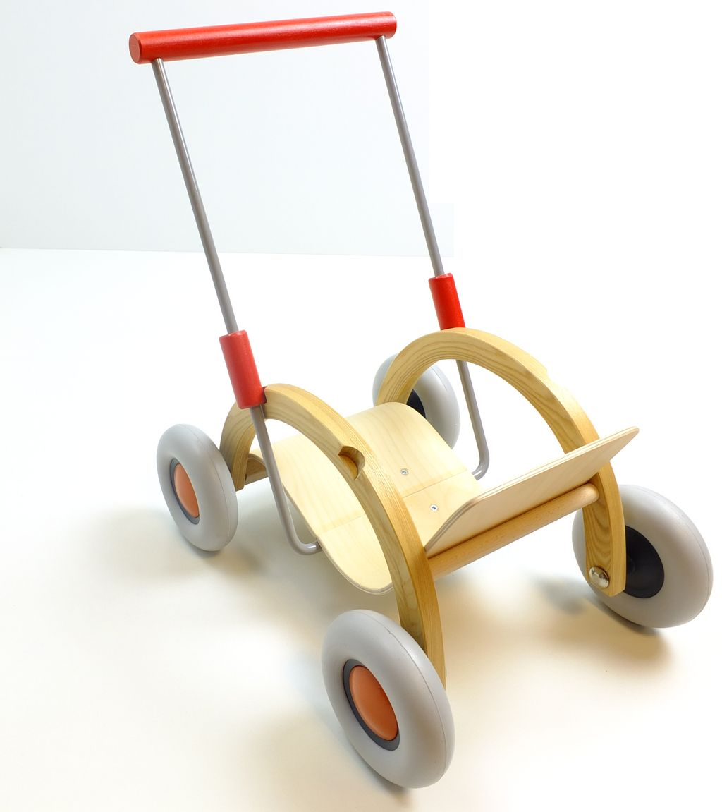 puppenwagen troll lauflernwagen holz lauflernhilfe griffh he verstellbar kinder ebay. Black Bedroom Furniture Sets. Home Design Ideas