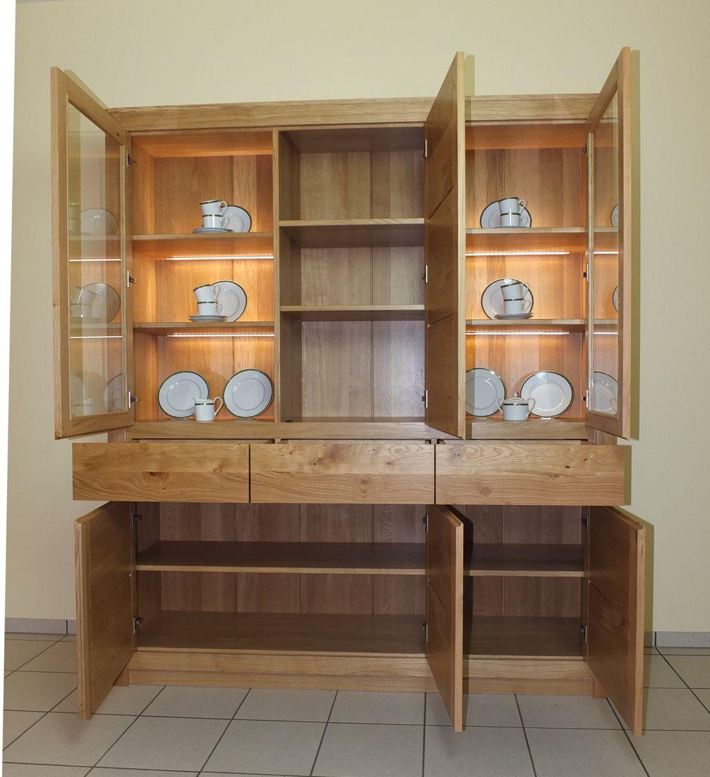 haltern schrank wohnzimmerschrank wohnschrank eiche massiv modern grifflos modell schrank. Black Bedroom Furniture Sets. Home Design Ideas