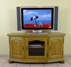 TV-Anrichte / Fernsehanrichte / Lowboard / Eiche vollmassiv, schönes Unterteil für einen Flachbildfernseher und die passenden Geräte! Modell: TV-Anrichte Soltau