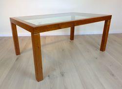 Couchtisch / Wohnzimmertisch / Sofatisch modern Kirschbaum 120 x 75 cm mit Glasplatte / Ausstellungsstück zum Sonderpreis 810,00 €