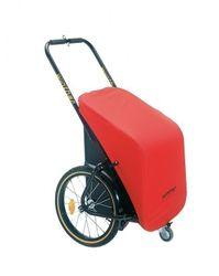 Winther Donkey Classic mit roter Plane - der praktische Anhänger für`s Fahrrad (Stauraum: 65 Liter / Zuladung: 40 kg) -- inkl. Pletscher-Kupplung