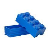 LEGO Bausteinbox mit Deckel / 8 Noppen - Farbe: blau / praktischer Aufbewahrungsbehälter / Maße: 50 x 25 x 18 cm