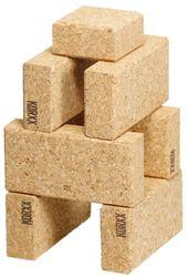 KORXX Cuboid Starter / 19 Bausteine aus Kork / 8 Rechtecke + 11 Quadrate / Maße der Box: 19,5 x 18,5 x 10 cm / für Kinder ab einem Jahr