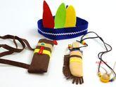 B-Ware / Die Halskette fehlt / Tolles Indianer Set im praktischen Metall-Köfferchen mit Holzgriff / Material: Holz, Metall+ Filz / Maße des Koffers: 19,5 x 13 x 6,7 cm / für Kinder ab 3 Jahren