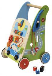 B-Ware / Artikel war bereits aufgebaut - Aufbauspuren, Farbe der Räder anders / Activity Walker Garage / Lauflernwagen mit Motorikspielen + Tankschlauch / Material: Holz / Maße: 33 cm breit - 50 cm hoch / Gewicht:4 kg / ab 1 Jahr
