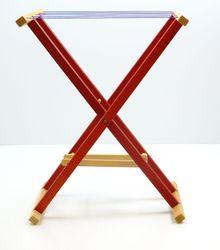 Aufklappbarer Wäscheständer für Kinder aus Holz / 5 Stoff-Wäscheleinen / Gewicht: 1,64 kg / für Kinder ab 3 Jahren geeignet