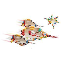 3D Puzzle für Bausteine  Raumschiff  / Holzform 7-teilig / Abmessung: 22 x 18,5 x 23,5 cm / für Kinder ab 3 Jahre geeignet