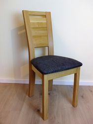 Stuhl  Lauenau 420  Massivholzstuhl Eiche oder Buche mit gepolstertem Sitz und Holzrücken - viele Bezüge möglich