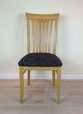 Hülsede Stuhl - Massivholzstuhl mit Sprossen im Rücken - viele Bezüge möglich