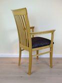 Hülsede Armlehnen Stuhl 460 -  Massivholzstuhl mit Sprossen im Rücken - viele Bezüge möglich
