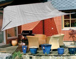 Sonnensegel / Rechteck 3,5 x 4,5 m - grau / Material: HDPE-Gewebe, UV-stabiles Gewebe 185 g/m² / umlaufendes Gurtband / Farbe: grau