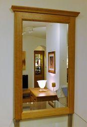 Spiegel / Spiegelrahmen / mit Kranzprofil in  Eiche, Buche oder Kirschbaum massiv, Modell: Spiegelrahmen  Landhaus