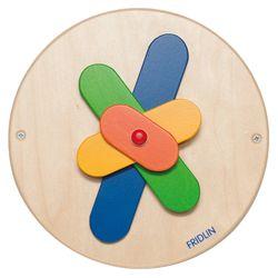 Drehspiel Wand / Wandelement mit  Propellerflügel  / Material: Holz / Maße: Ø 24 cm / für Kinder ab 1 Jahr / wird in Deutschland hergestellt