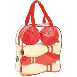 B-Ware / Leichter Fleck auf 1 Bowling-Kugel + Tasche an einer Stelle leicht eingerissen / Softbowling Kiga / Bowling-Set für die Kleinen mit 6 Kegeln + 2 Kugeln / Material: EVA / Gewicht: 1410 g / inkl. transparenter Tragetasche