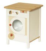 Kinder-Waschmaschine / Material: Erle / Maß: 35 x 35 x 46 cm / Farbe: natur + weiss / Gewicht: 5,5 kg