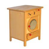 Kinder-Waschmaschine / Material: Erle / Maß: 35 x 35 x 46 cm / Farbe: natur / Gewicht: 5,5 kg